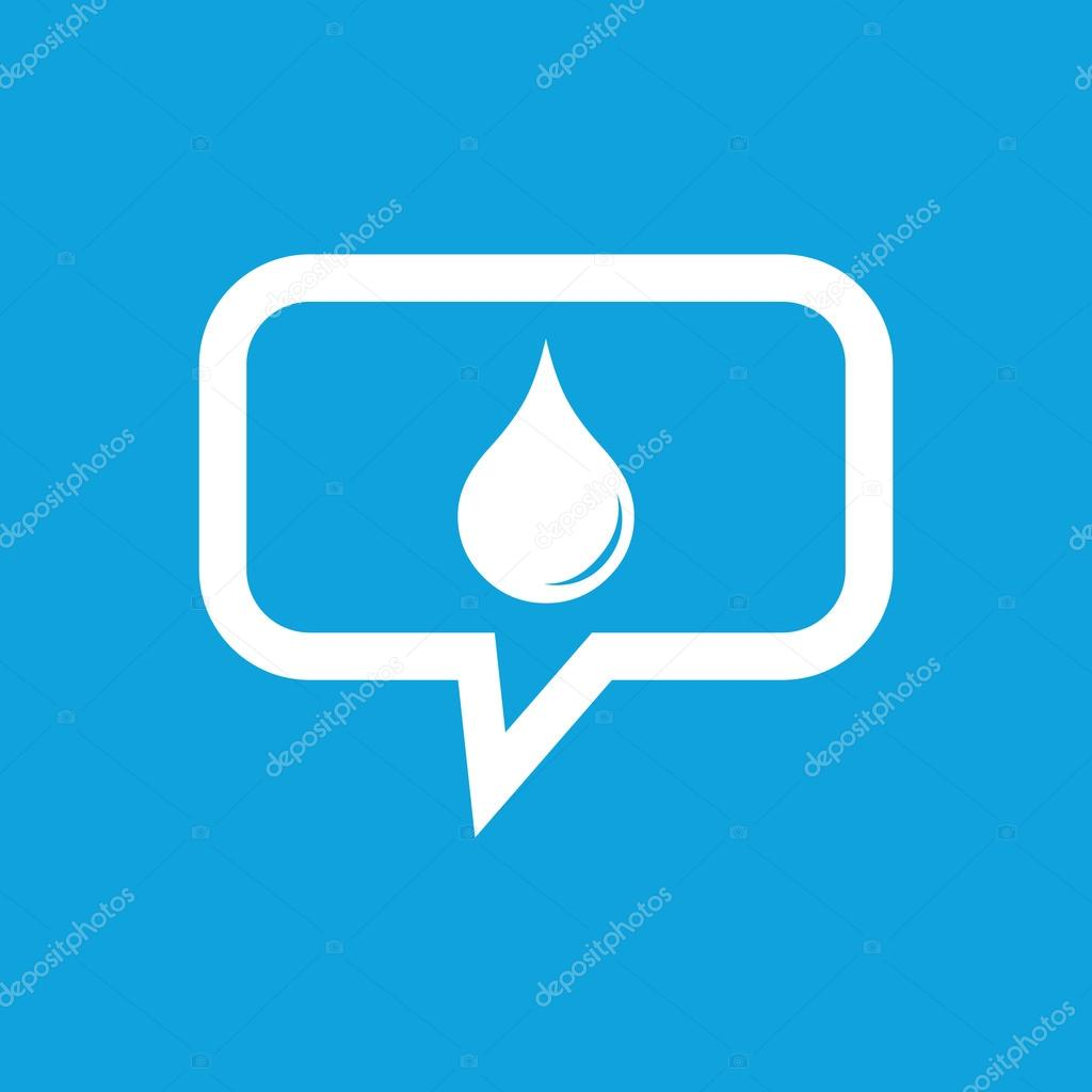 Water drop message icon