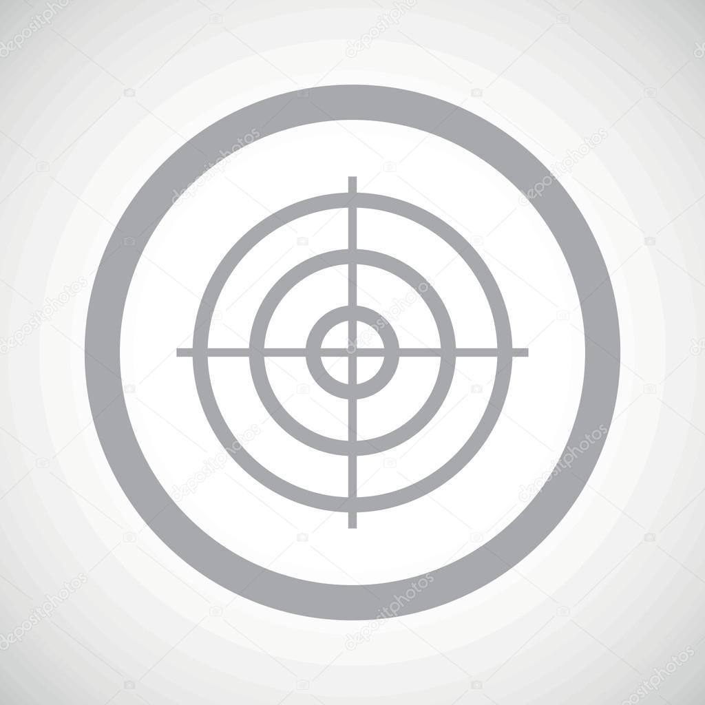Grey aim sign icon — Stock Vec...