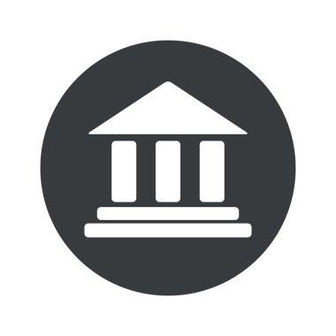 Monochrome round museum icon