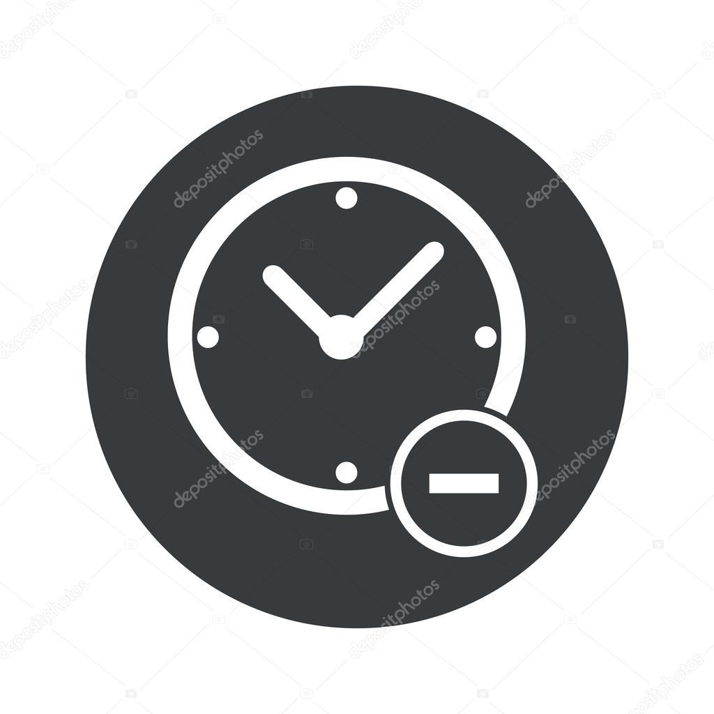Monocromo redondo reducir icono de tiempo vector de for El tiempo en st hilari sacalm