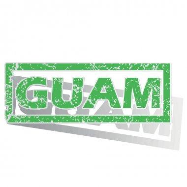"""Картина, постер, плакат, фотообои """"Зеленый изложил Guam печать"""", артикул 77053259"""