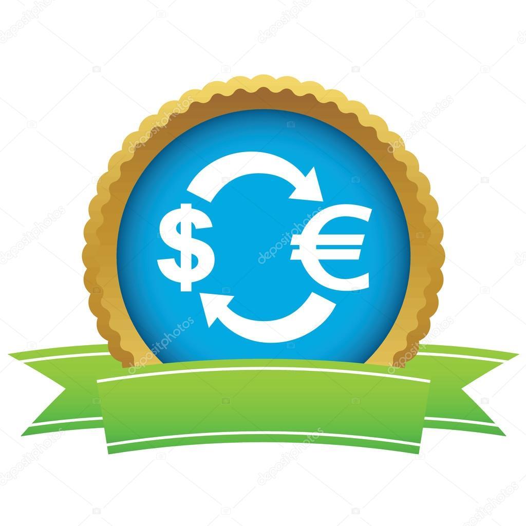 Dollar Euro Exchange Certificate Icon Stock Vector Ylivdesign