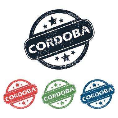 Round Cordoba city stamp set