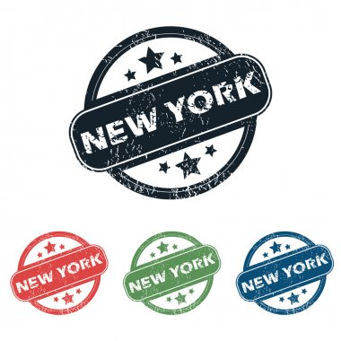 Round New York stamp set