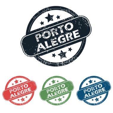 """Картина, постер, плакат, фотообои """"Круглые набор марок Порту-Алегри"""", артикул 77537228"""