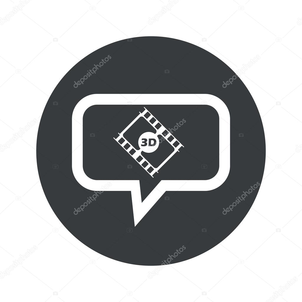 Ronda 3d icono de cuadro de diálogo de película — Vector de stock ...