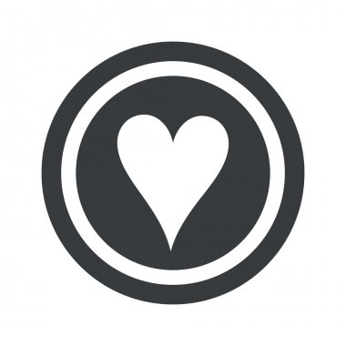Round black hearts sign