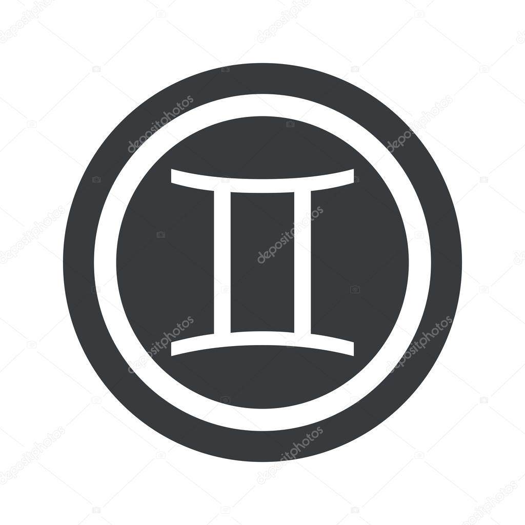 Round black gemini sign stock vector ylivdesign 78109026 round black gemini sign stock vector 78109026 buycottarizona