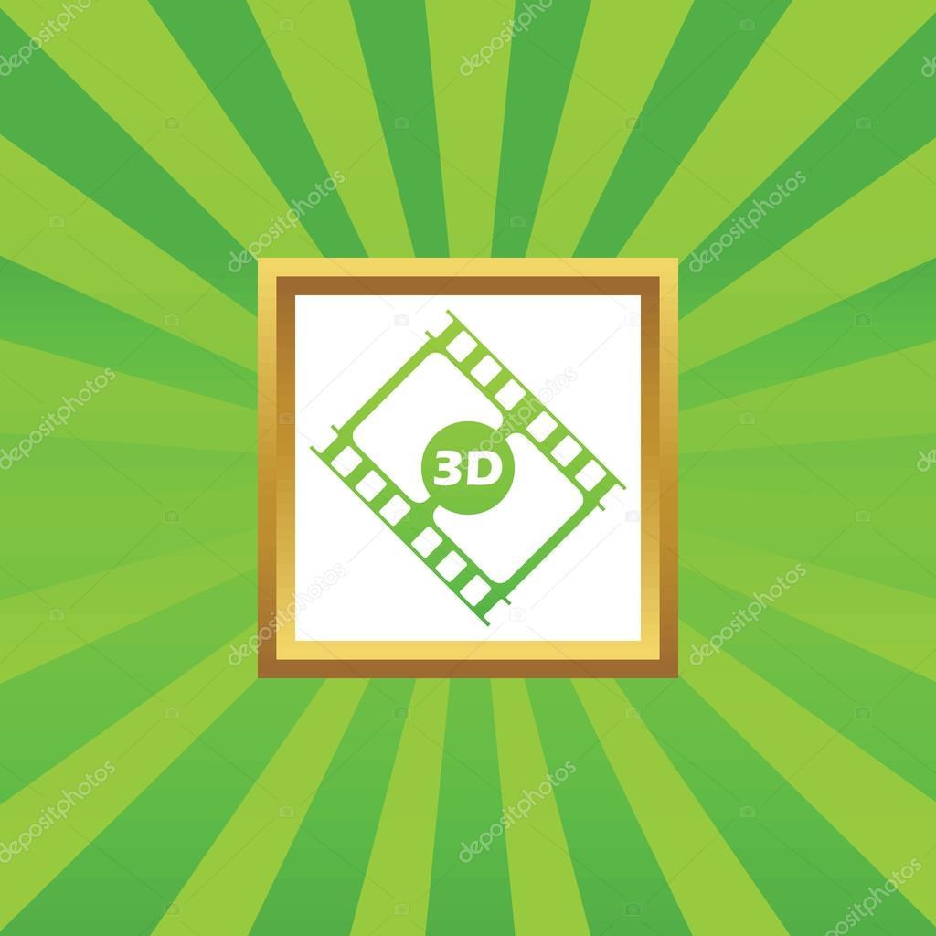3D icono de cuadro de película — Archivo Imágenes Vectoriales ...