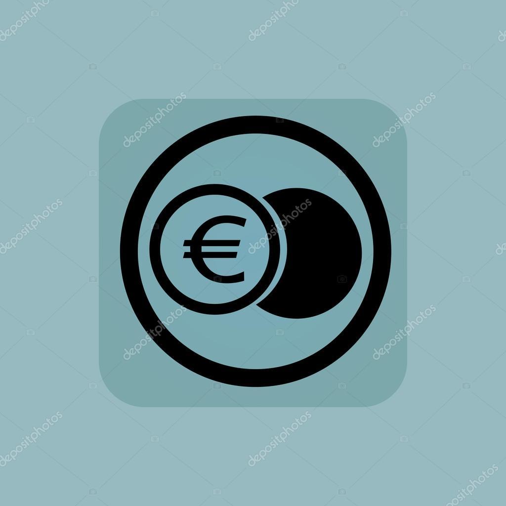Blass Blau Euro Münze Zeichen Stockvektor Ylivdesign 78824640