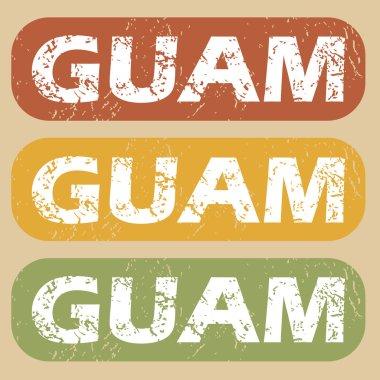 """Картина, постер, плакат, фотообои """"Винтажные набор марок Гуама"""", артикул 78959950"""