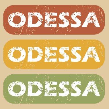 Vintage Odessa stamp set