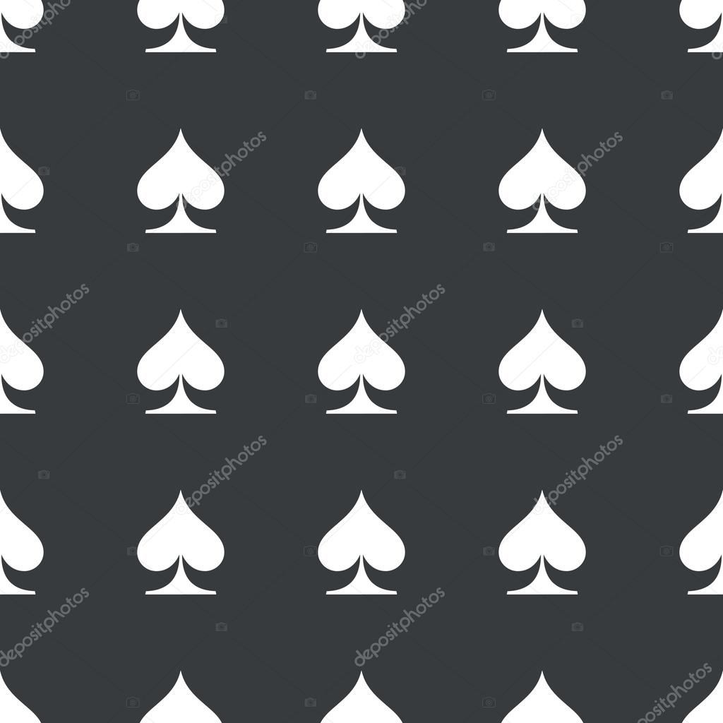 Straight black spades pattern