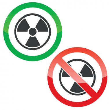 Hazard permission signs set
