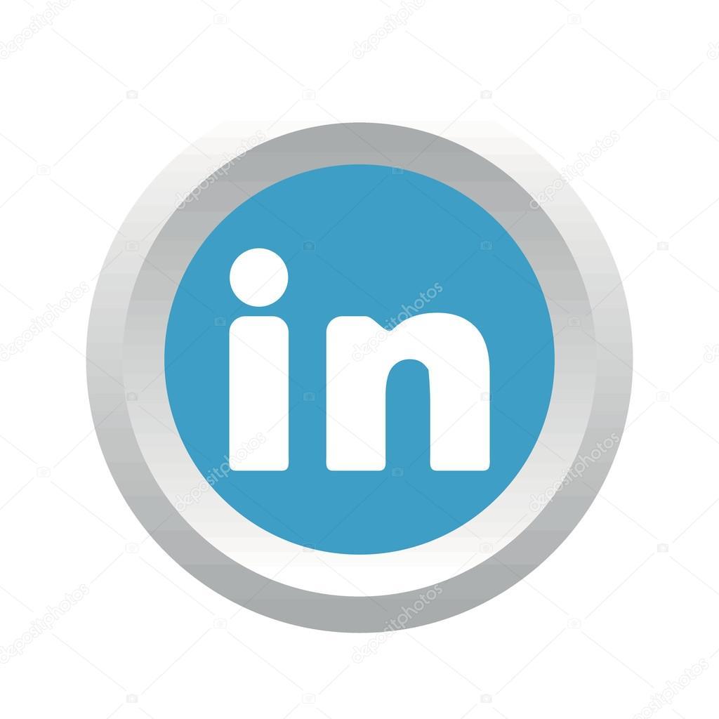 Linkedin Social Logo Stock Vector Ylivdesign 80651216