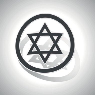 Star David sign sticker, curved
