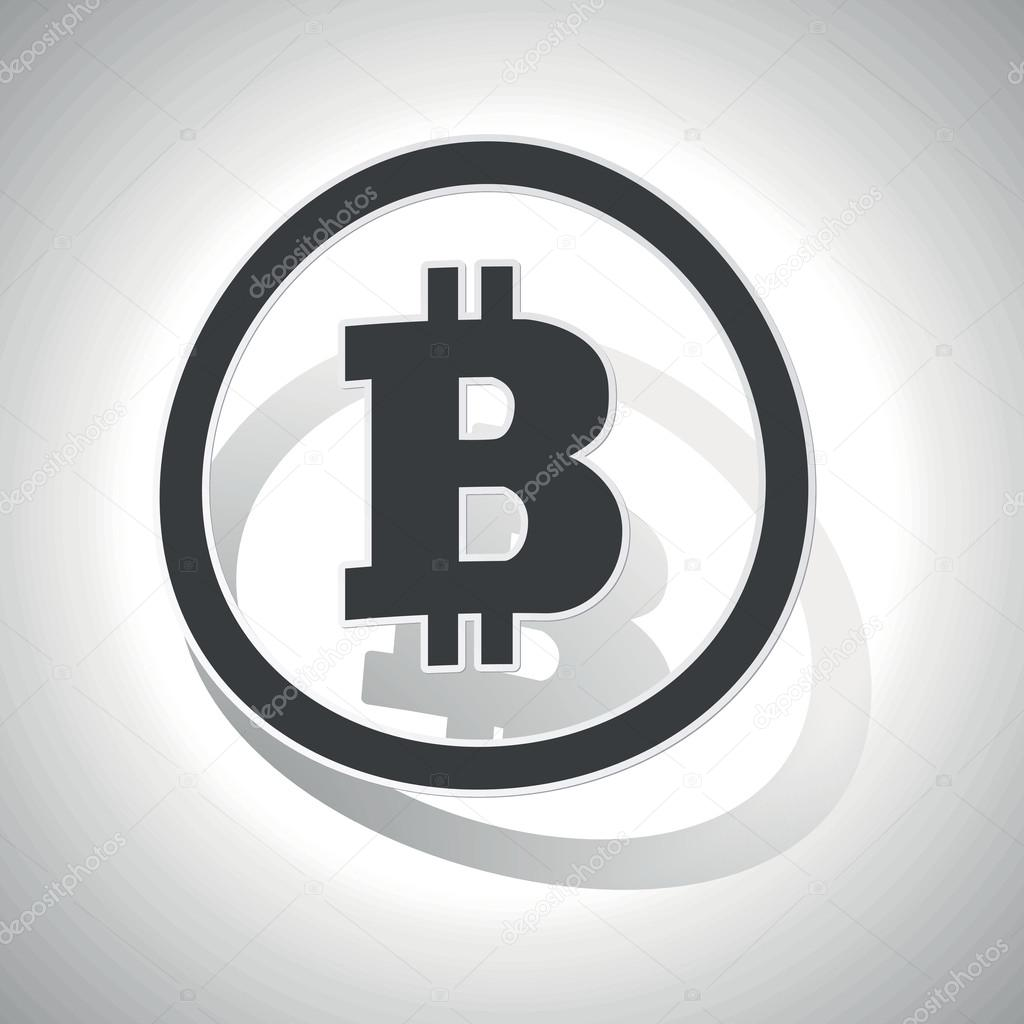Bitcoin sign sticker, curved