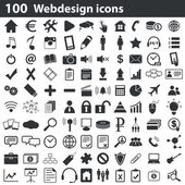 Fotografie Sada 100 webdesign ikony