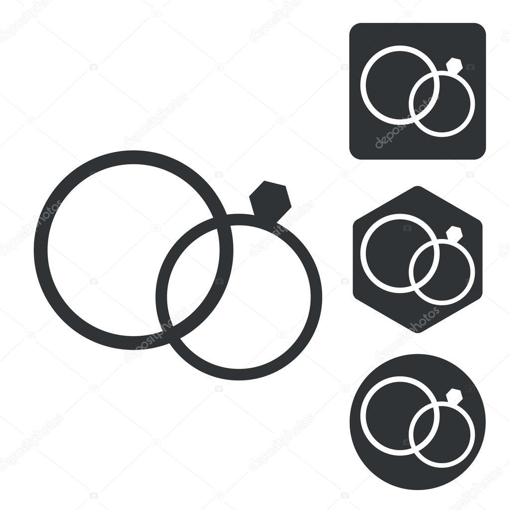 Hochzeit Ringe Icon Set Einfarbig Stockvektor C Ylivdesign 82995540