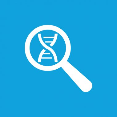 DNA analysis icon, simple