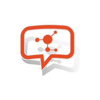 Molecule message sticker, orange