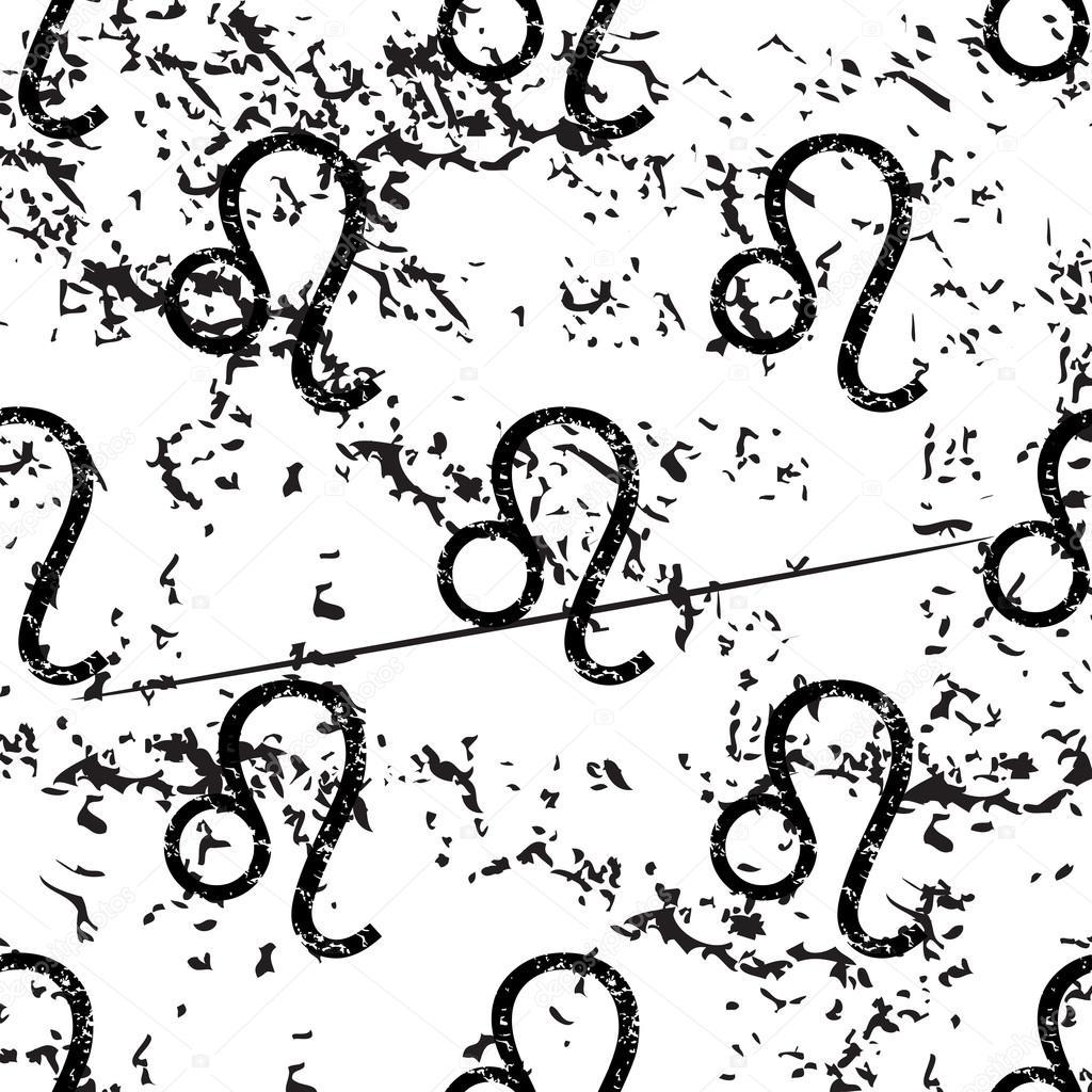 leo muster grunge schwarzes bild auf weiem hintergrund vektor von ylivdesign - Leo Muster
