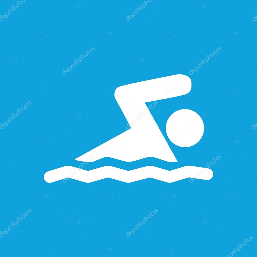 Swimming icon, simple