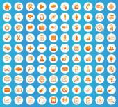 Webdesign ikony kulaté sada