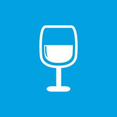 Wine glass icon, white