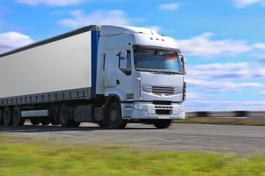 truck transports freight