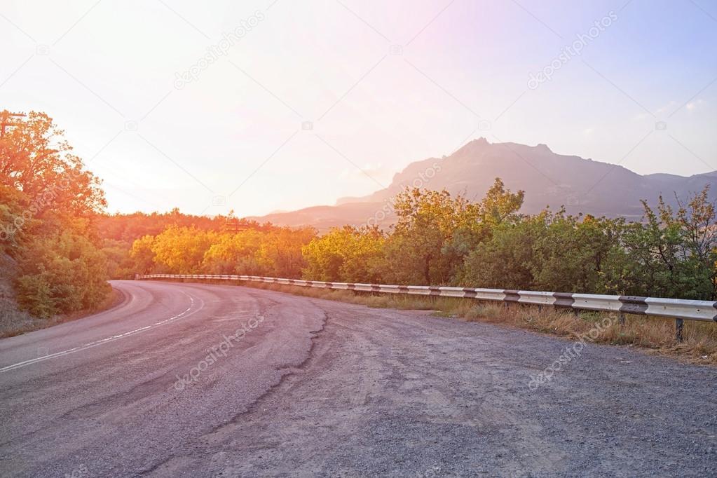 Crimea  twisting highway