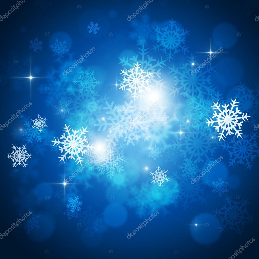 Abstract Christmas Snow Card