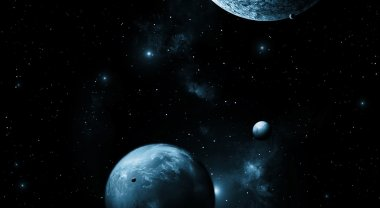 Planets in Dark Space