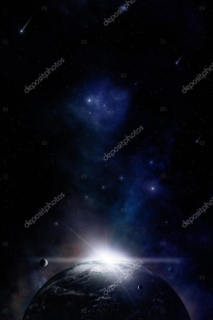Space Sunrise Background