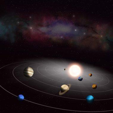 Solar System Background