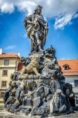 Figure on the Charles bridge in Prague