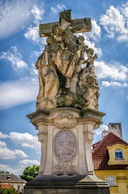 Figure of Jesus Christ on the Charles bridge in Prague