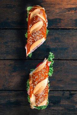 Two sandwich