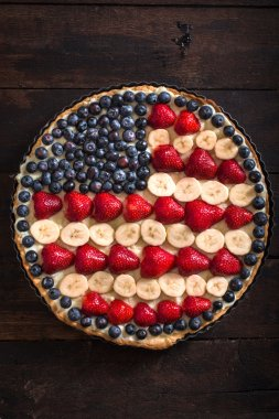 4th of july concept pie