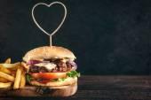 Fotografie Šťavnaté hovězí burger