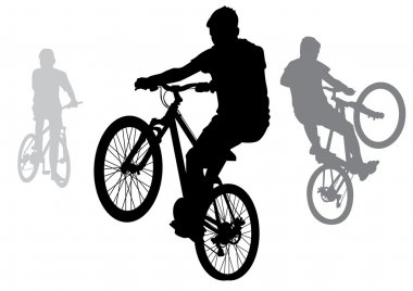 Boys on bicycles.