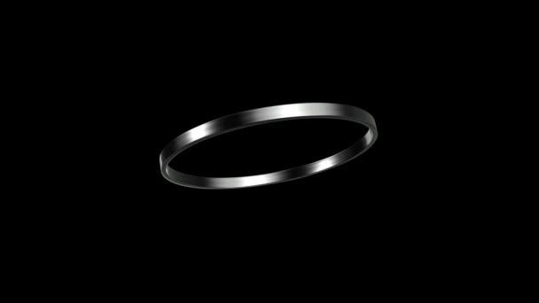 silver ring rotation 45 degree angle HD