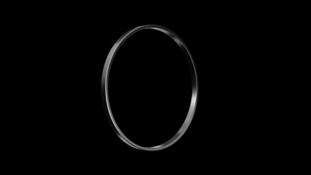 silver ring turning around HD