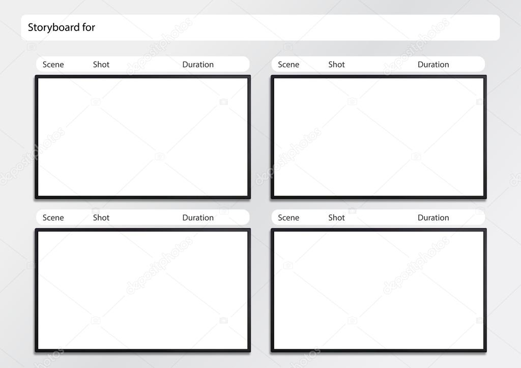 Hdtv Storyboard Template 4 Frame — Stock Photo © Realcg #100812398