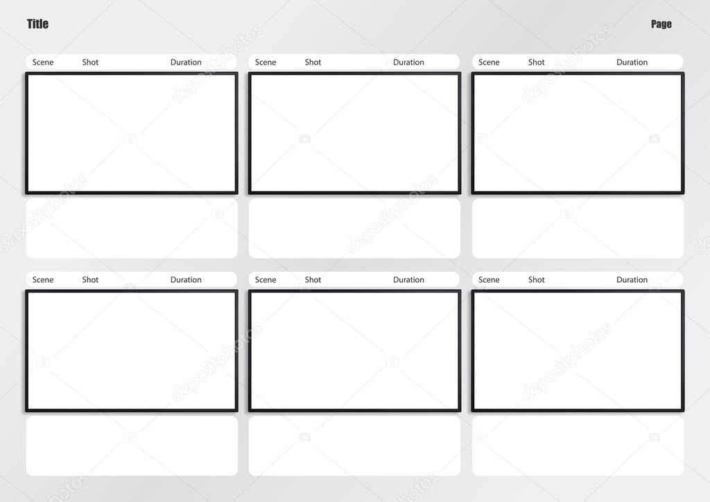 Hdtv Storyboard Template 6 Frame Stock Photo Realcg 100812426