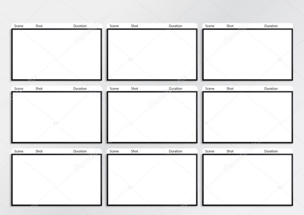 Hdtv Storyboard Template  Frame  Stock Photo  Realcg