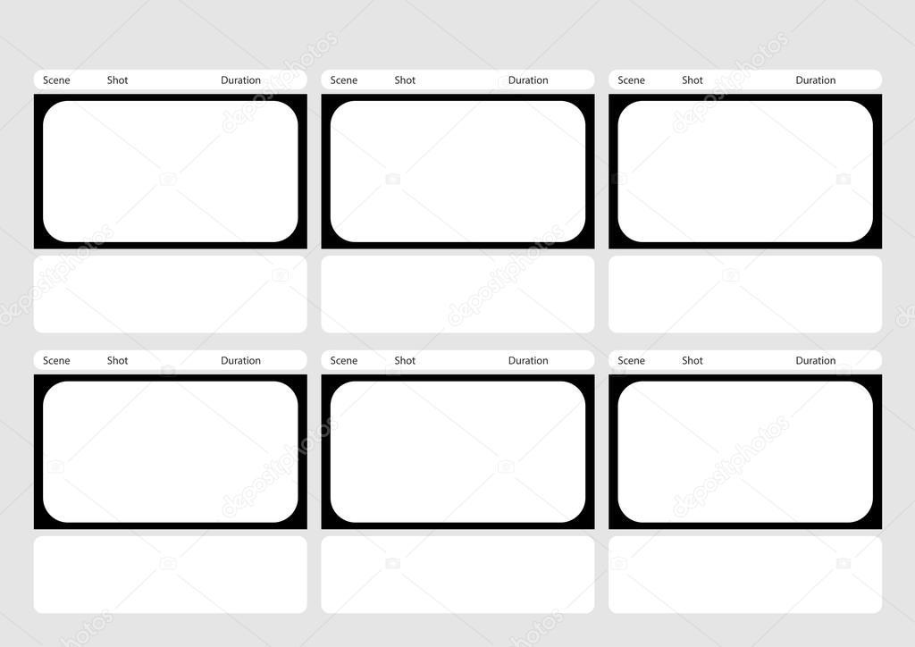 Plantilla de storyboard de marco de estilo clásico 6 de HDTV ...