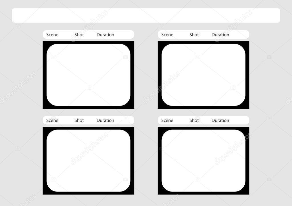 Plantilla de storyboard televisión tradicional 4 marco — Archivo ...