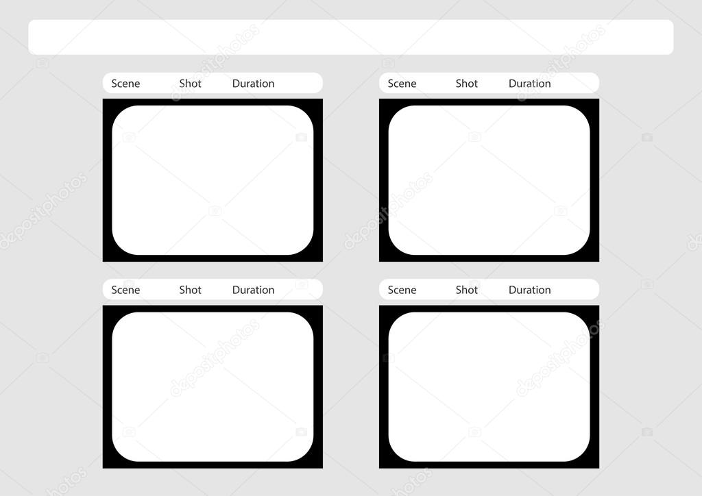 Traditionele Televisie 4 Frame Storyboard Of Sjabloon Stockvector