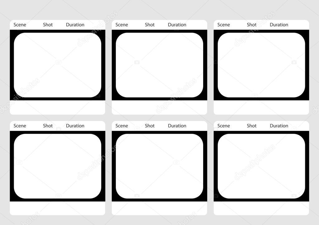Plantilla de storyboard televisión tradicional 6 marco — Vector de ...